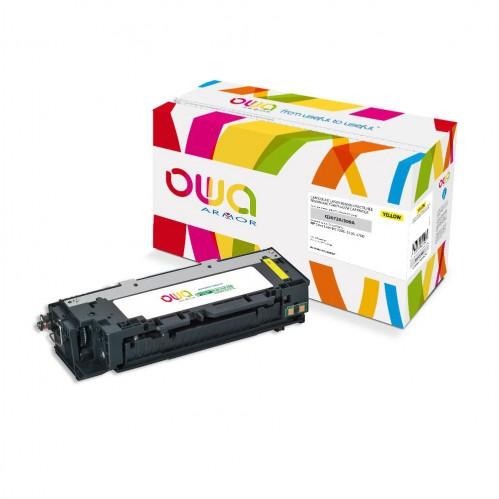 Cartouche Laser OWA remanufacturée compatible HP Q2672A - Jaune - 4000p