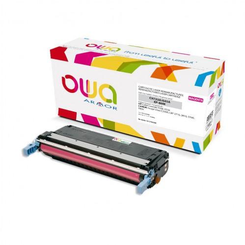 Cartouche Laser OWA remanufacturée compatible HP C9732A - Jaune - 12000p