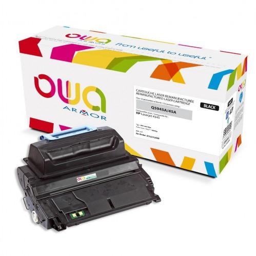 Cartouche Laser OWA remanufacturée compatible HP Q5945A - Noir - 18000p