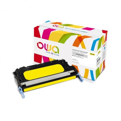 Cartouche Laser OWA remanufacturée compatible HP Q7562A - Jaune - 3500p