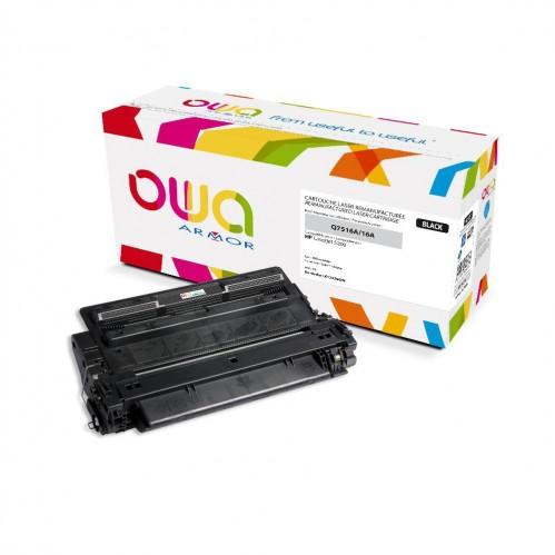 Cartouche Laser OWA remanufacturée compatible HP Q7516A - Noir - 12000p