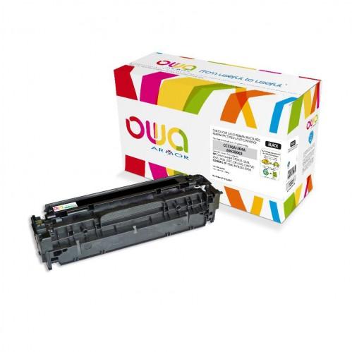 Cartouche Laser OWA remanufacturée compatible HP CC530A - Noir - 3500p