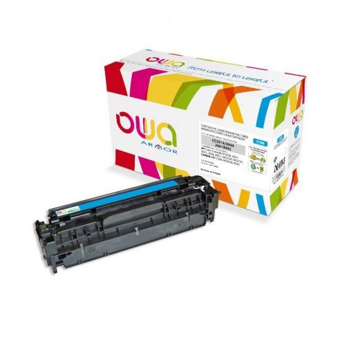 Cartouche Laser OWA remanufacturée compatible HP CC531A - Cyan - 2800p
