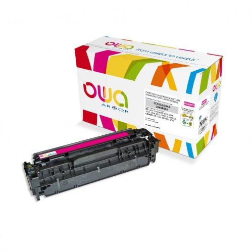Cartouche Laser OWA remanufacturée compatible HP CC533A - Magenta - 2800p