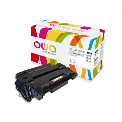 Cartouche Laser OWA remanufacturée compatible HP CE255A - Noir - 6000p