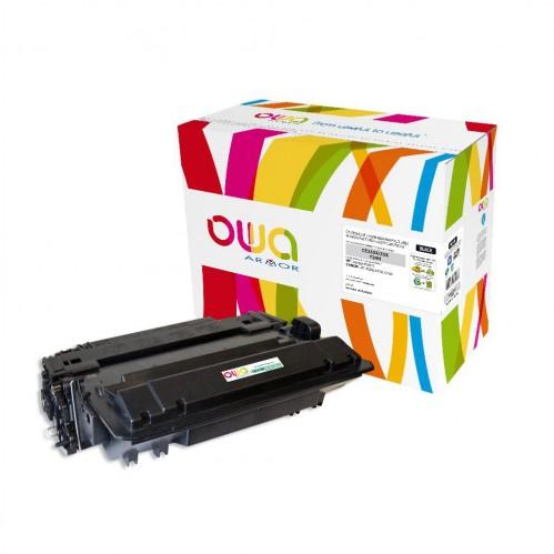 Cartouche Laser OWA remanufacturée compatible HP CE255X - Noir - 12500p