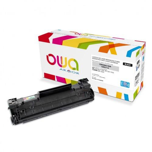 Cartouche Laser OWA remanufacturée compatible HP CB436A - Noir - 2550p