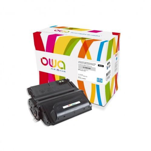 Cartouche Laser OWA remanufacturée compatible HP Q1338A - Noir - 18000p