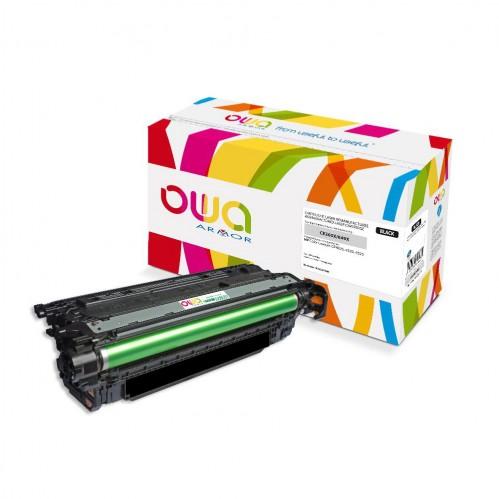 Cartouche Laser OWA remanufacturée compatible HP CE260X - Noir - 17000p