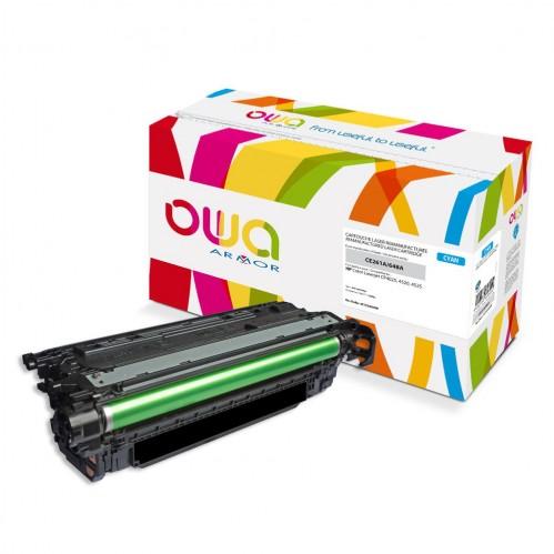 Cartouche Laser OWA remanufacturée compatible HP CE261A - Cyan - 11000p