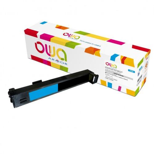 Cartouche Laser OWA remanufacturée compatible HP CB381A - Cyan - 21000p