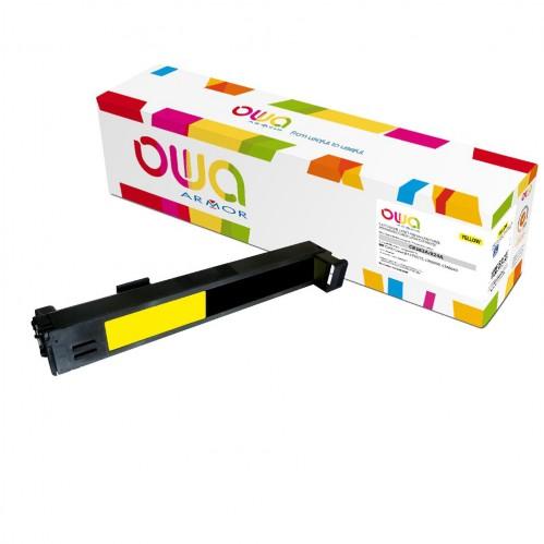 Cartouche Laser OWA remanufacturée compatible HP CB382A - Jaune - 21000p