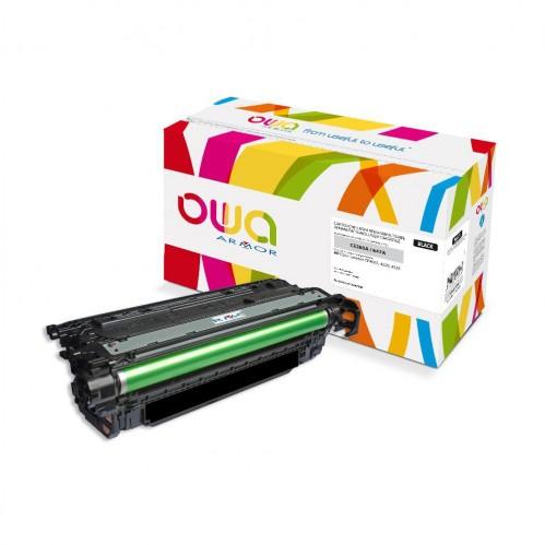Cartouche Laser OWA remanufacturée compatible HP CE260A - Noir - 8500p