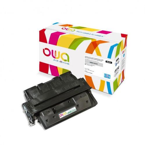 Cartouche Laser OWA remanufacturée compatible HP C8061X - Noir - 18000p