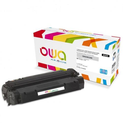 Cartouche Laser OWA remanufacturée compatible HP Q2624A - Noir - 4000p