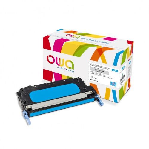 Cartouche Laser OWA remanufacturée compatible HP Q7581A - Cyan - 8000p