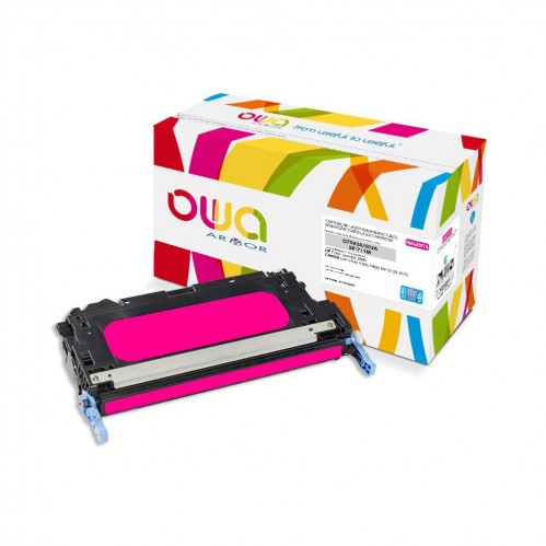 Cartouche Laser OWA remanufacturée compatible HP Q7583A - Magenta - 8000p