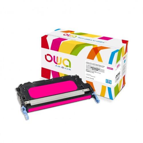 Cartouche Laser OWA remanufacturée compatible HP Q6473A - Magenta - 8000p