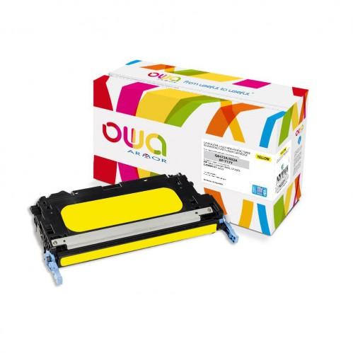 Cartouche Laser OWA remanufacturée compatible HP Q6472A - Jaune - 8000p