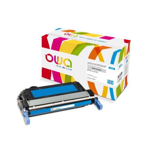 Cartouche Laser OWA remanufacturée compatible HP Q5951A - Cyan - 15000p