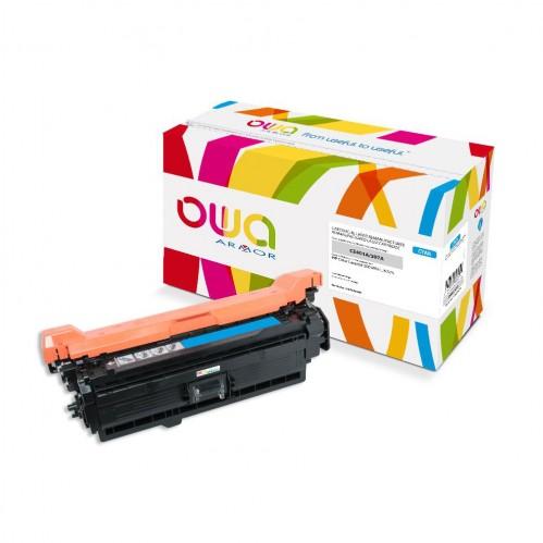 Cartouche Laser OWA remanufacturée compatible HP CE401A - Cyan - 6000p