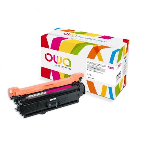 Cartouche Laser OWA remanufacturée compatible HP CE403A - Magenta - 6000p