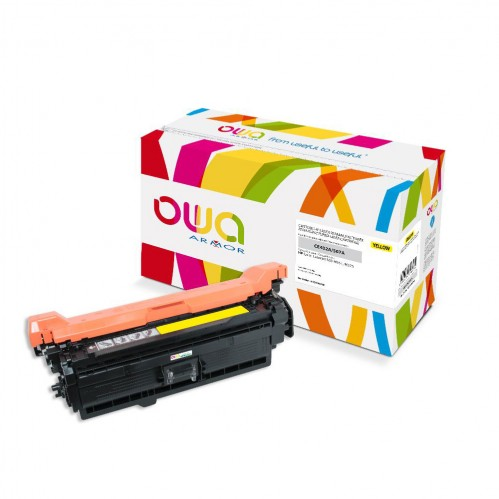 Remanufactured OWA laser cartridge compatible with HP CE402A - Yellow - 6000p