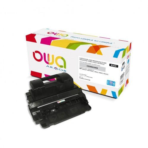 Cartouche Laser OWA remanufacturée compatible HP CE390X - Noir - 32000p