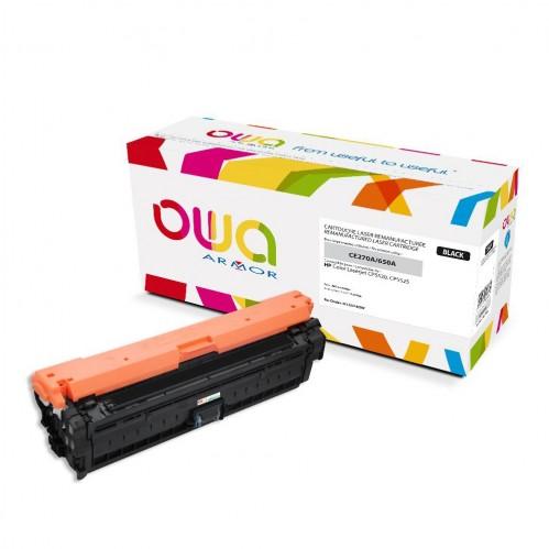 Cartouche Laser OWA remanufacturée compatible HP CE270A - Noir - 13500p