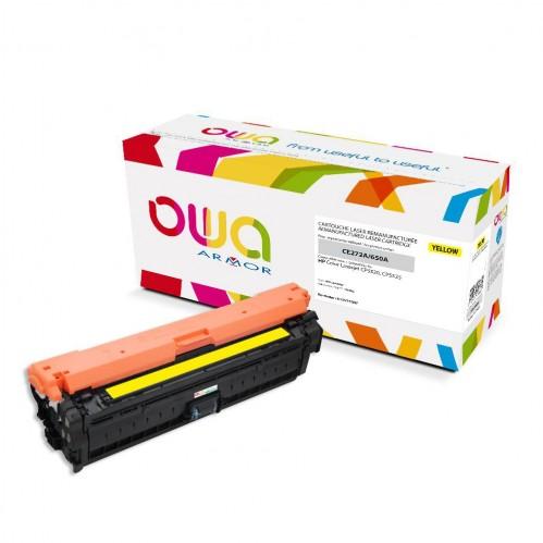 Cartouche Laser OWA remanufacturée compatible HP CE272A - Jaune - 15000p