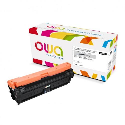 Cartouche Laser OWA remanufacturée compatible HP CE740A - Noir - 7000p