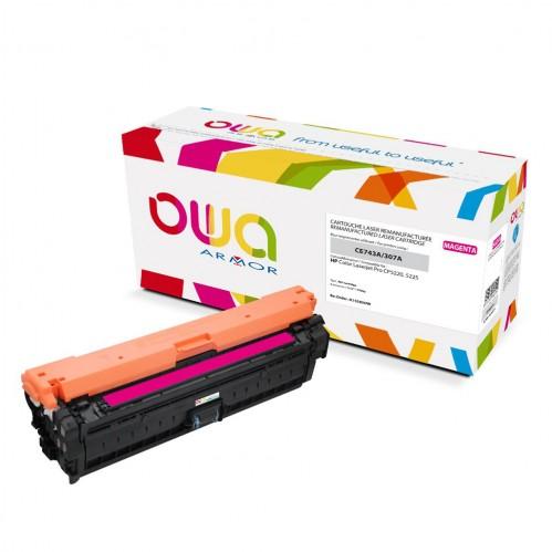 Cartouche Laser OWA remanufacturée compatible HP CE743A - Magenta - 7300p