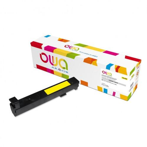 Cartouche Laser OWA remanufacturée compatible HP CF302A - Jaune - 32000p