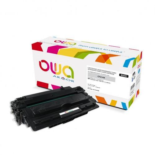 Cartouche Laser OWA remanufacturée compatible HP CF214X - Noir - 17500p