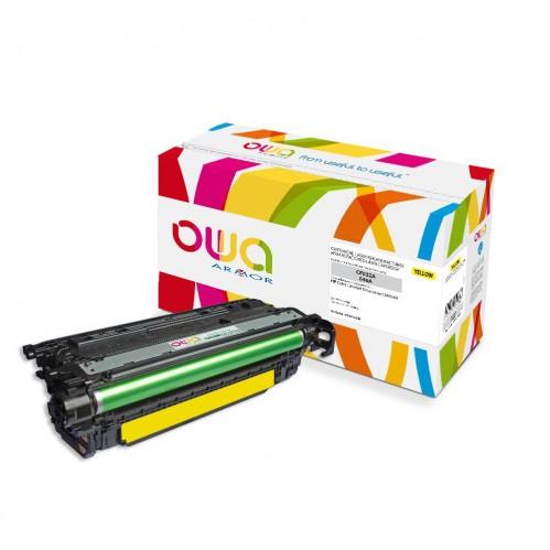 Cartouche Laser OWA remanufacturée compatible HP CF032A - Jaune - 12500p