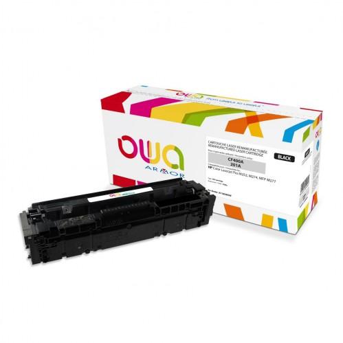 Cartouche Laser OWA remanufacturée compatible HP CF400A - Noir - 1500p