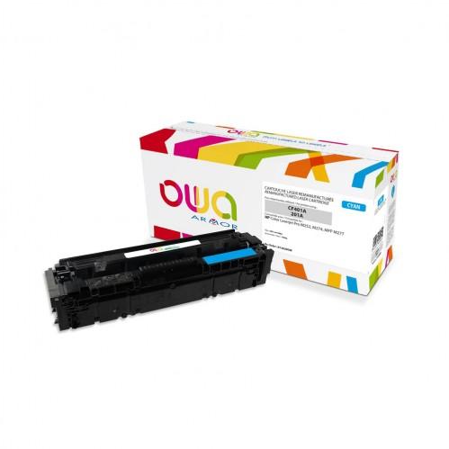 Cartouche Laser OWA remanufacturée compatible HP CF401A - Cyan - 1400p