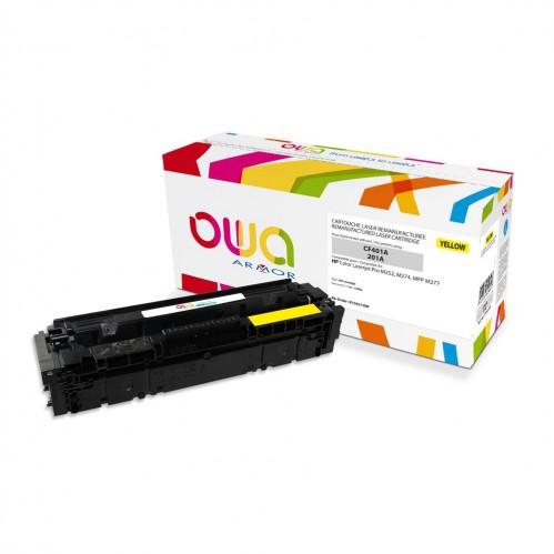 Cartouche Laser OWA remanufacturée compatible HP CF402A - Jaune - 1400p