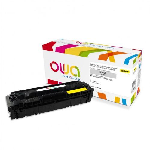 Cartouche Laser OWA remanufacturée compatible HP CF402X - Jaune - 2300p