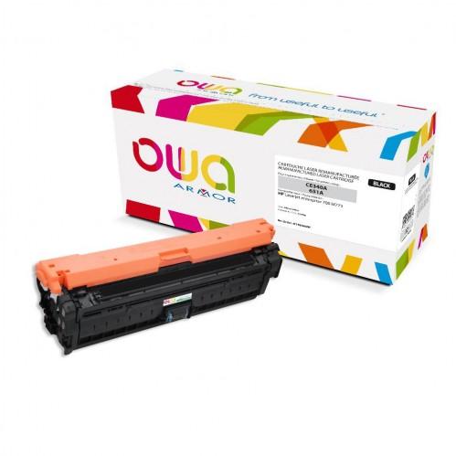 Cartouche Laser OWA remanufacturée compatible HP CE340A - Noir - 13500p