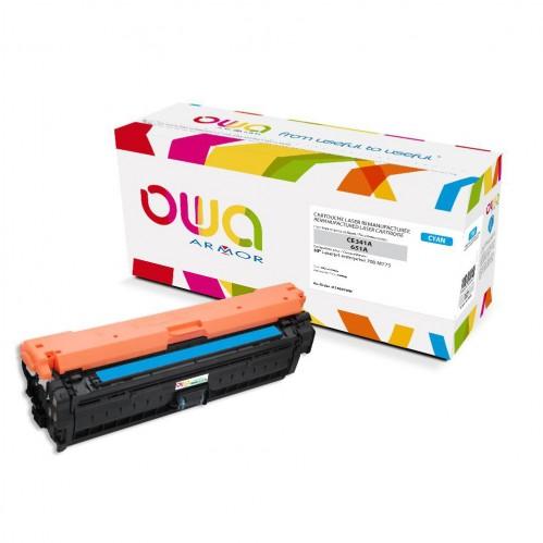 Cartouche Laser OWA remanufacturée compatible HP CE341A - Cyan - 16000p
