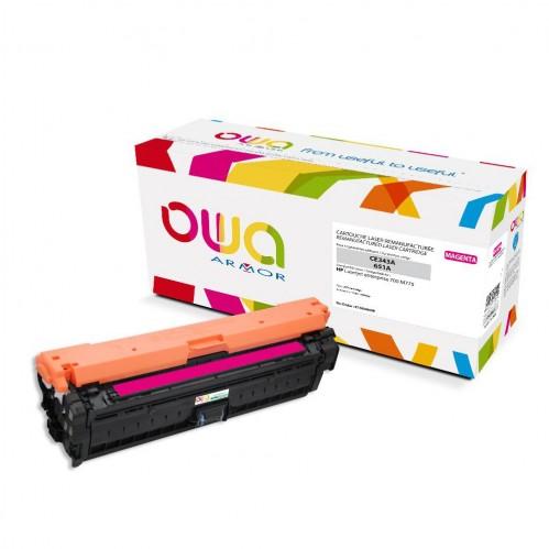 Cartouche Laser OWA remanufacturée compatible HP CE343A - Magenta - 16000p