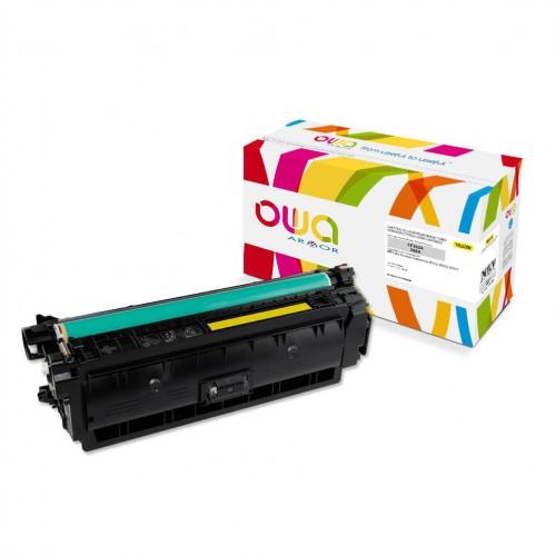 Cartouche Laser OWA remanufacturée compatible HP CF362A - Jaune - 5000p