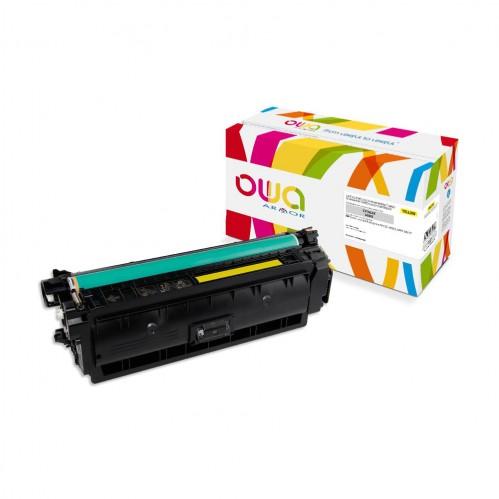 Cartouche Laser OWA remanufacturée compatible HP CF362X - Jaune - 9500p