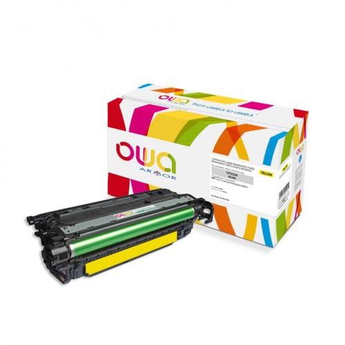 Cartouche Laser OWA remanufacturée compatible HP CF332A - Jaune - 15000p
