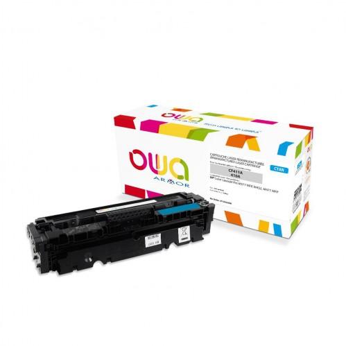 Cartouche Laser OWA remanufacturée compatible HP CF411A - Cyan - 2300p