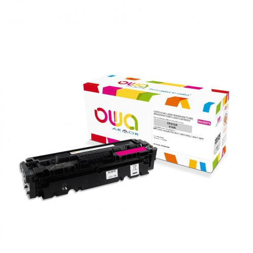Cartouche Laser OWA remanufacturée compatible HP CF413A - Magenta - 2300p