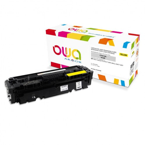 Remanufactured OWA laser cartridge compatible with HP CF412A - Yellow - 2300p