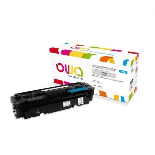 Cartouche Laser OWA remanufacturée compatible HP CF411X - Cyan - 5000p