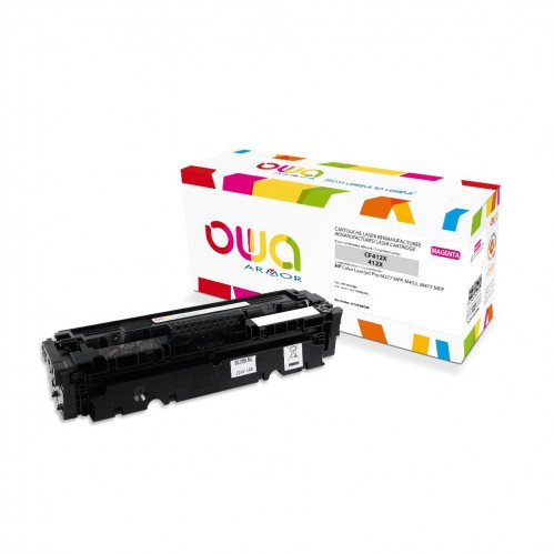 Cartouche Laser OWA remanufacturée compatible HP CF413X - Magenta - 5000p